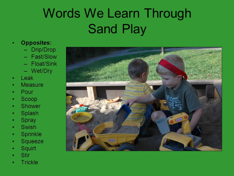 Words We Learn Through Sand Play