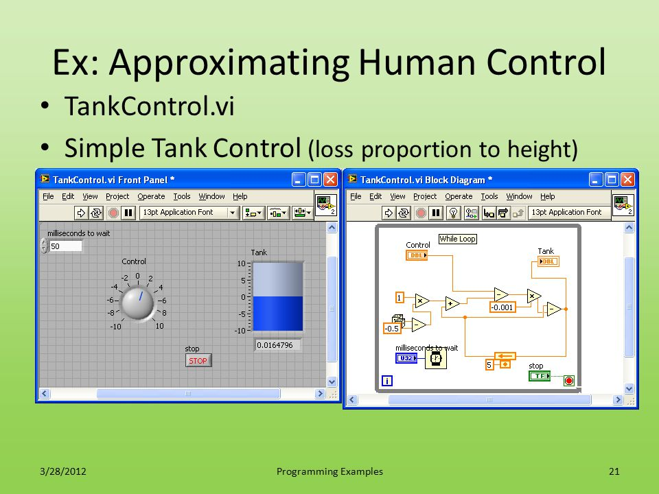 Ex: Approximating Human Control