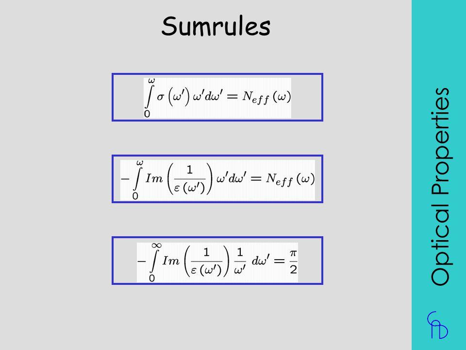 Sumrules Optical Properties