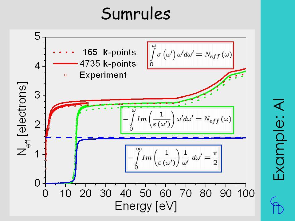 Sumrules Example: Al