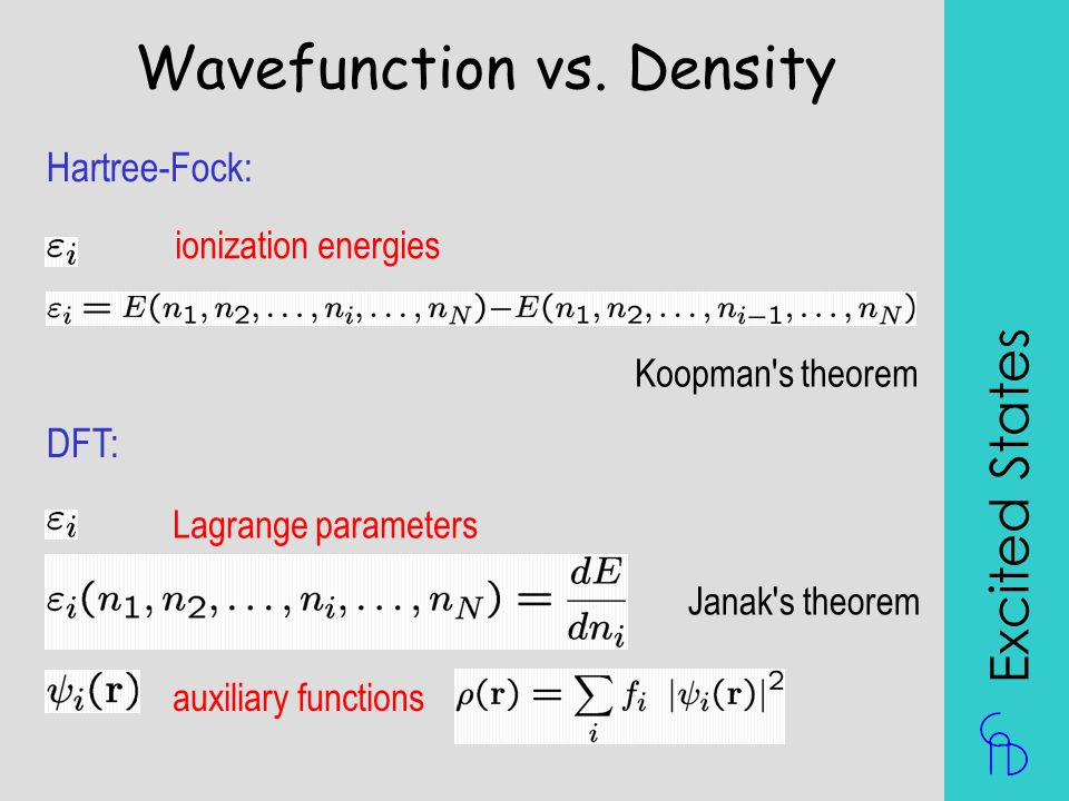 Wavefunction vs. Density