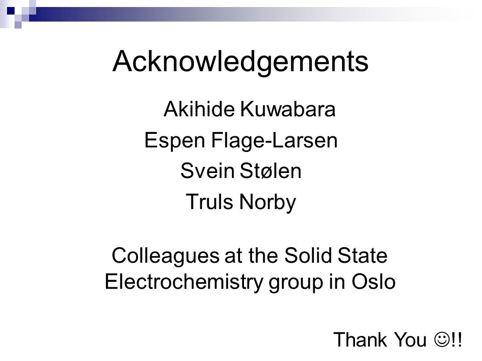 Colleagues at the Solid State Electrochemistry group in Oslo