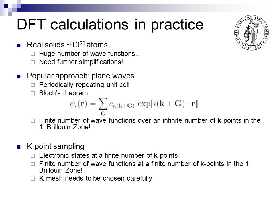 DFT calculations in practice