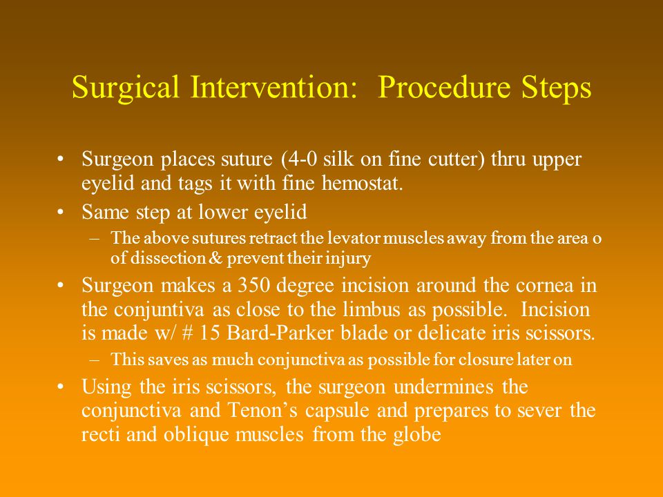 Surgical Intervention: Procedure Steps