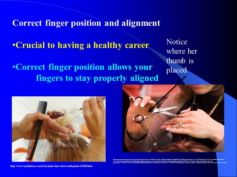 Correct finger position and alignment