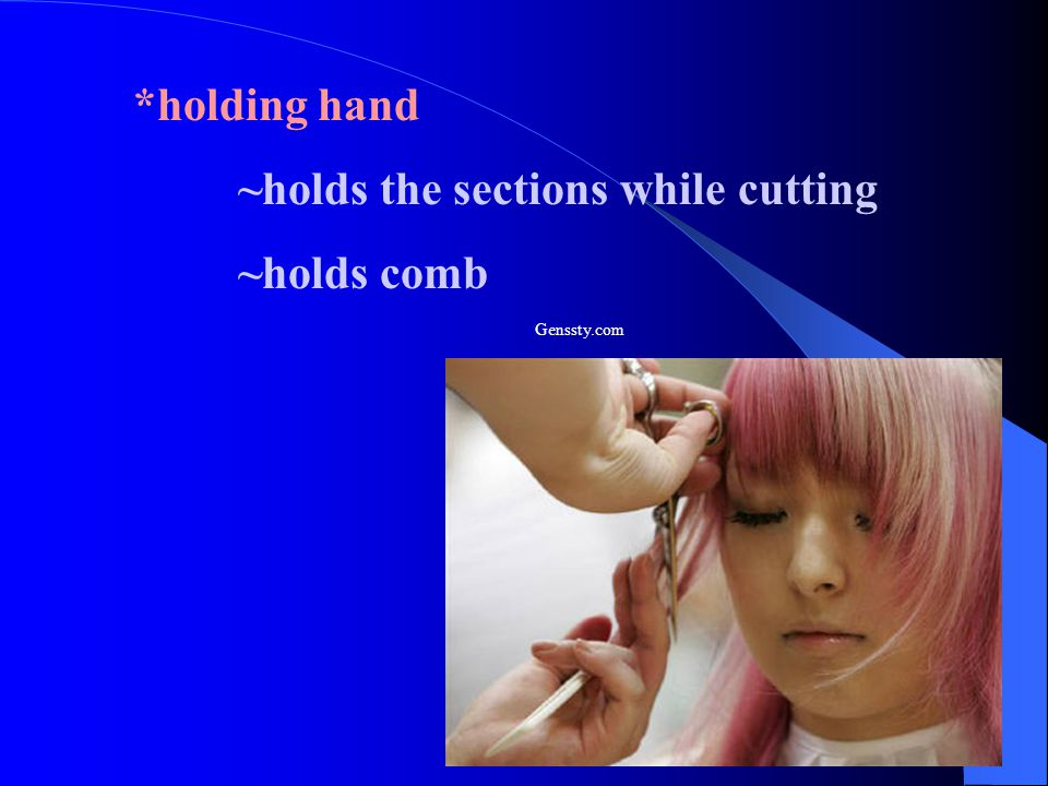 ~holds the sections while cutting ~holds comb