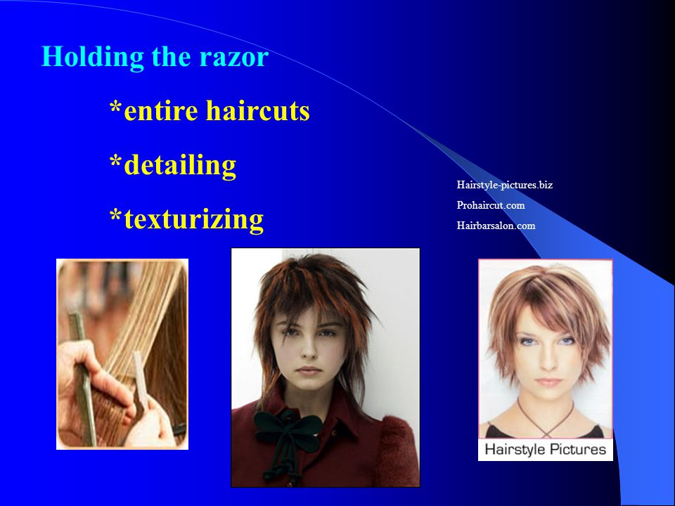 Holding the razor *entire haircuts *detailing *texturizing