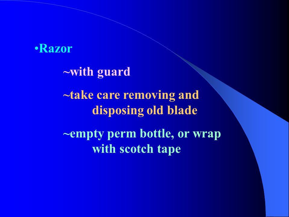 Razor ~with guard. ~take care removing and disposing old blade.