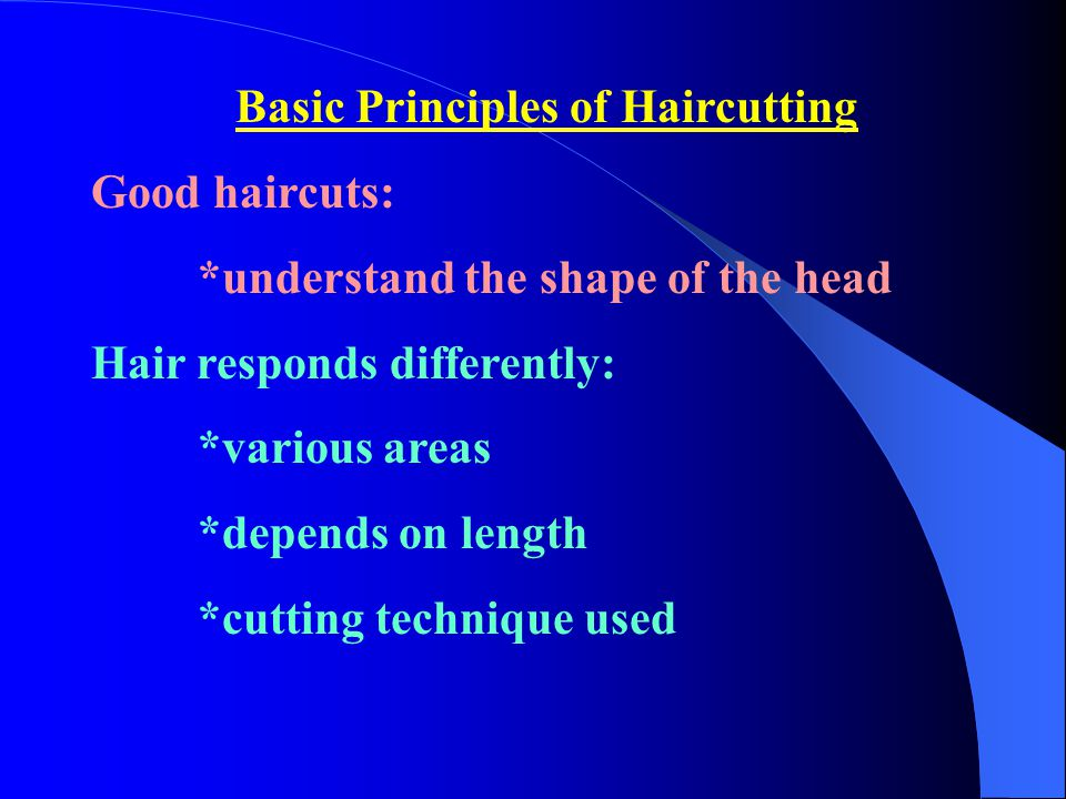 Basic Principles of Haircutting