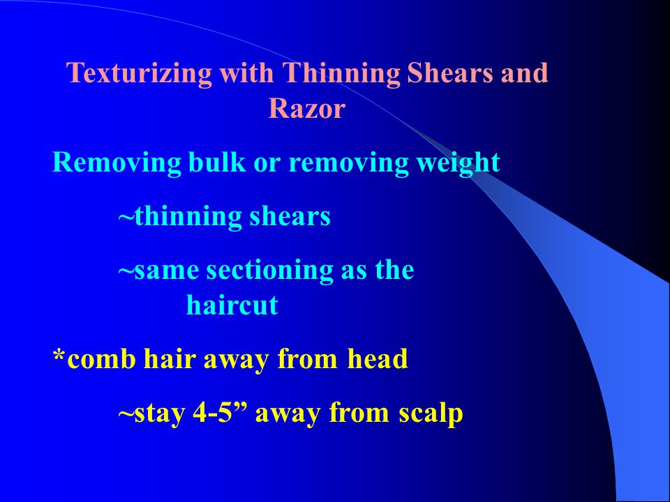 Texturizing with Thinning Shears and Razor