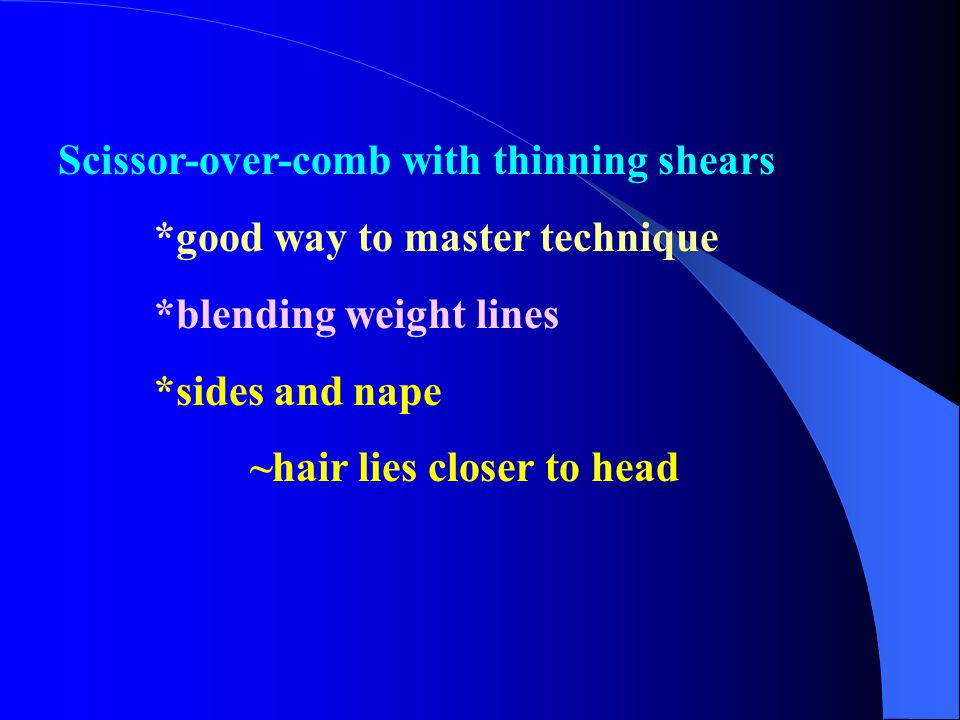 Scissor-over-comb with thinning shears
