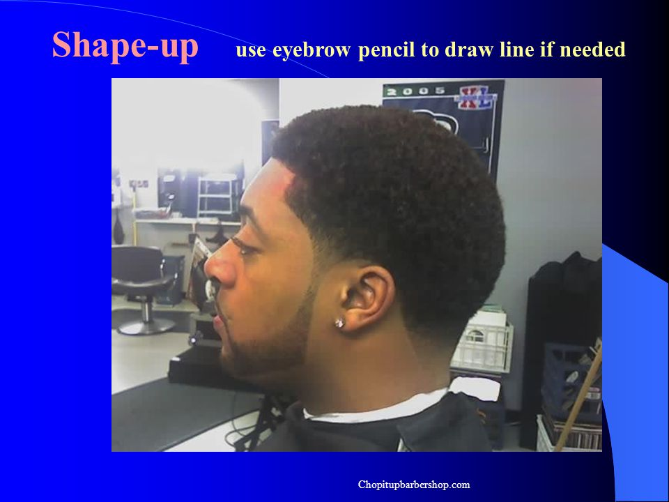 Shape-up use eyebrow pencil to draw line if needed