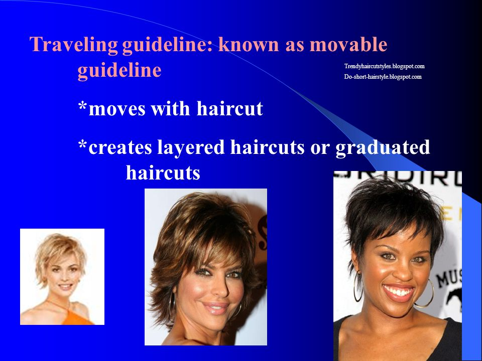 Traveling guideline: known as movable guideline *moves with haircut