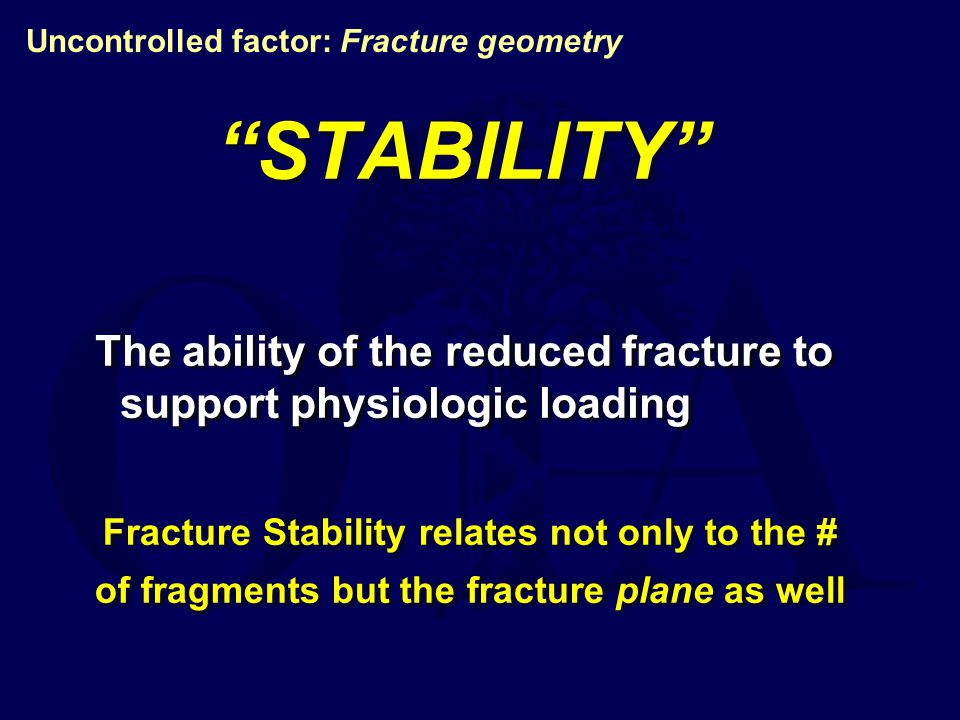 Uncontrolled factor: Fracture geometry