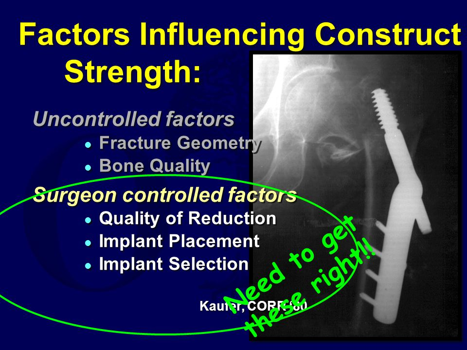 Factors Influencing Construct Strength: