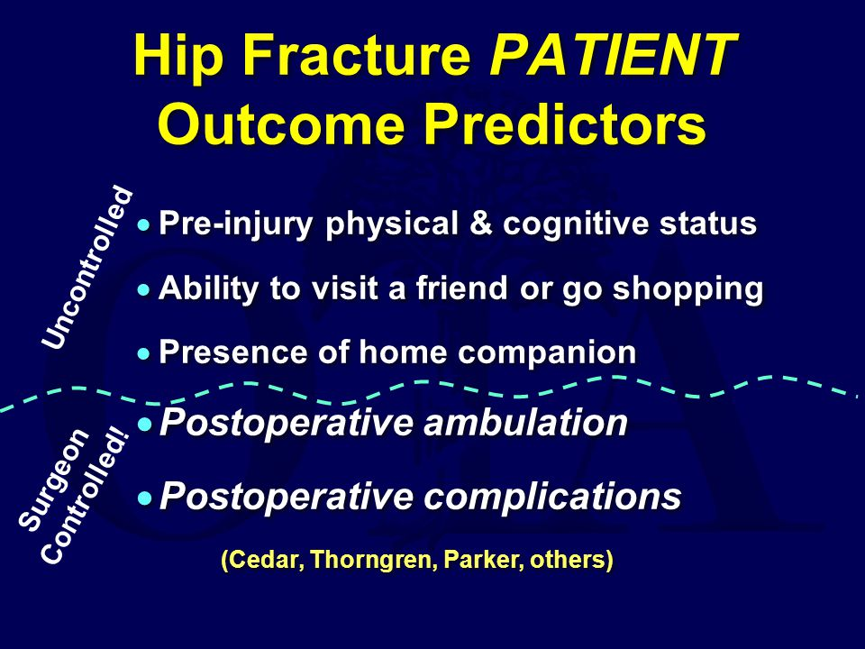 Hip Fracture PATIENT Outcome Predictors