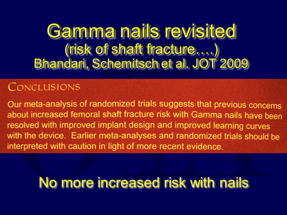No more increased risk with nails