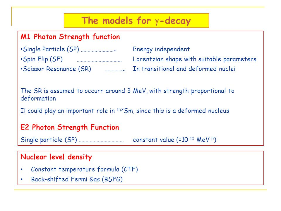 The models for g-decay M1 Photon Strength function