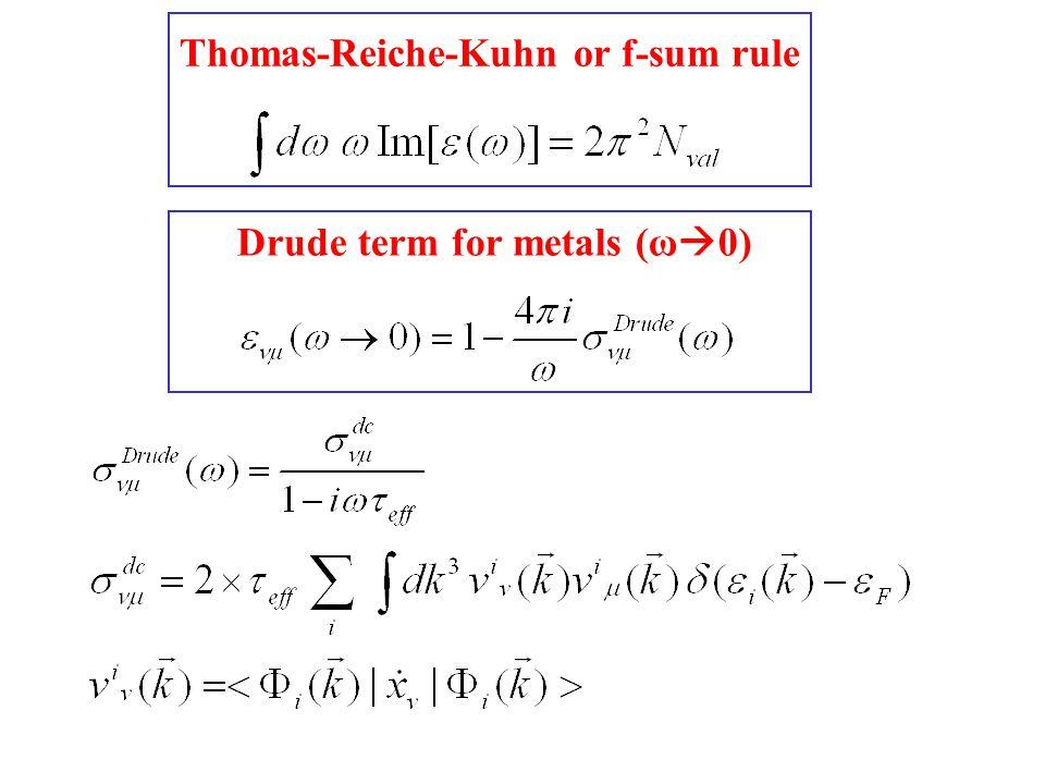 Thomas-Reiche-Kuhn or f-sum rule