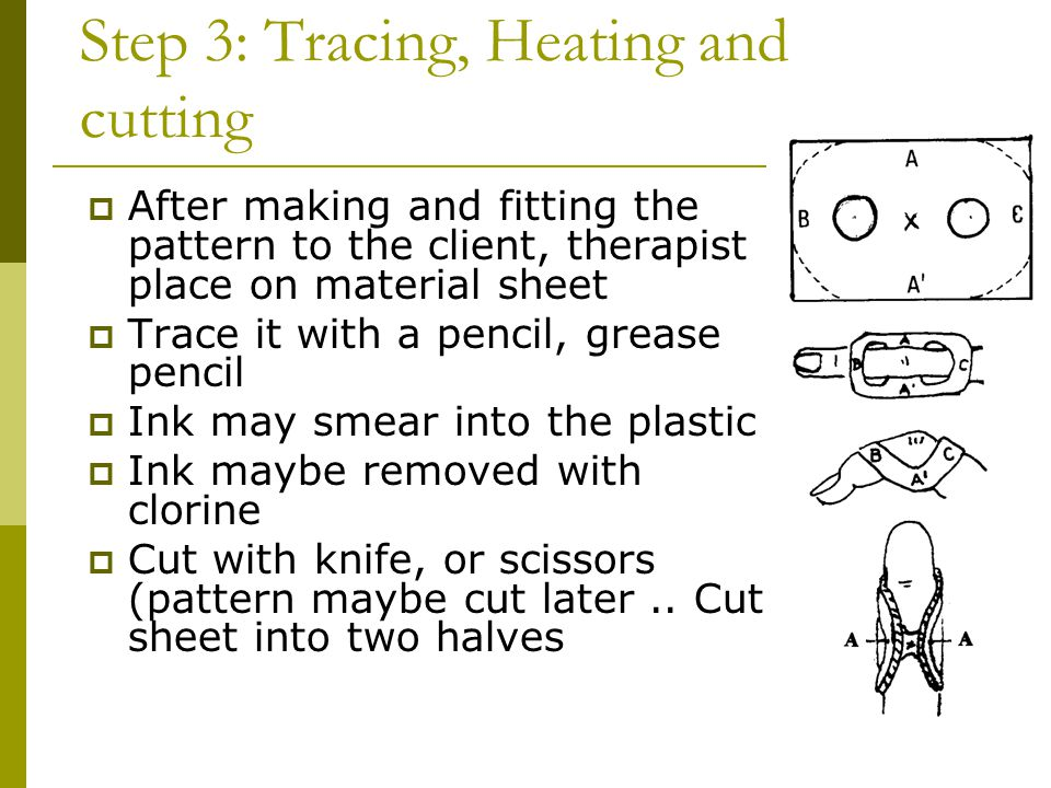 Step 3: Tracing, Heating and cutting