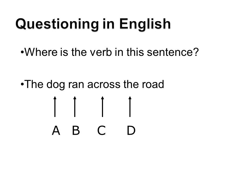Questioning in English