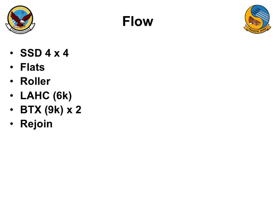 Flow SSD 4 x 4 Flats Roller LAHC (6k) BTX (9k) x 2 Rejoin