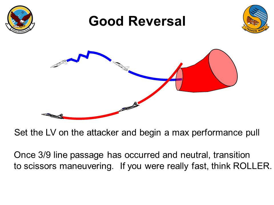 Good Reversal Set the LV on the attacker and begin a max performance pull. Once 3/9 line passage has occurred and neutral, transition.