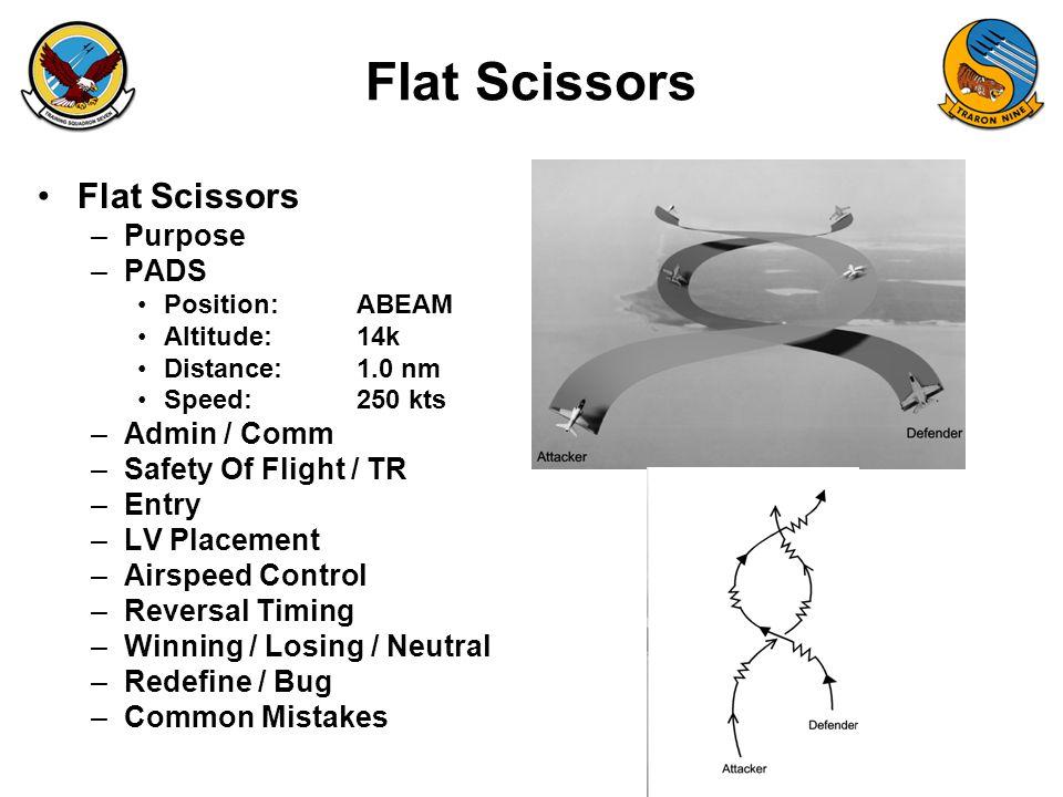 Flat Scissors Flat Scissors Purpose PADS Admin / Comm