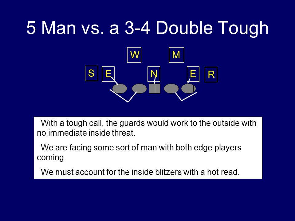 5 Man vs. a 3-4 Double Tough W M S E N E R