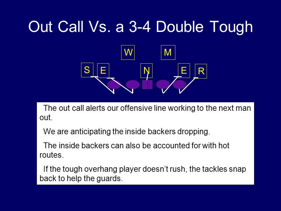 Out Call Vs. a 3-4 Double Tough