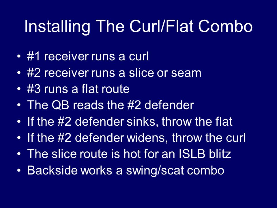 Installing The Curl/Flat Combo