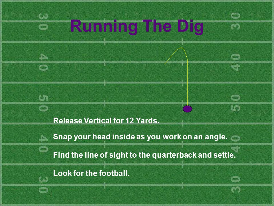 Running The Dig Release Vertical for 12 Yards.
