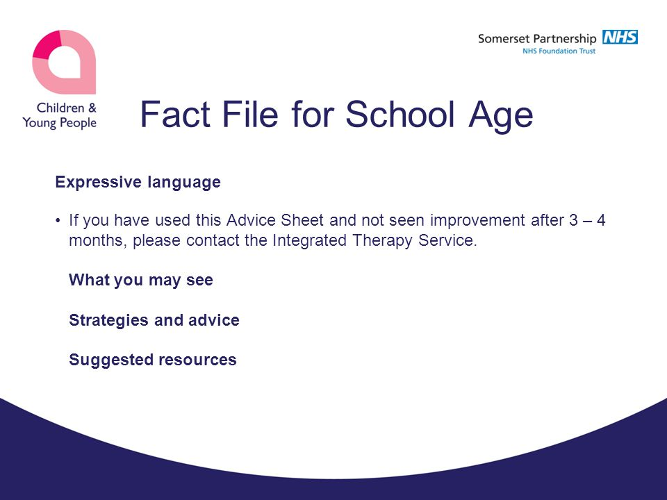 Fact File for School Age