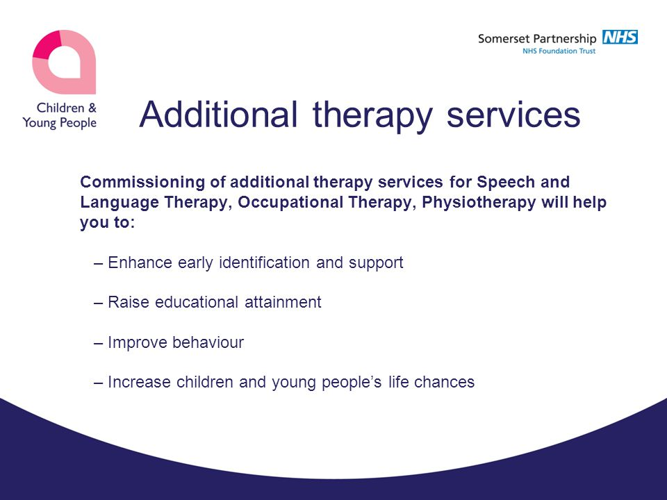 Additional therapy services