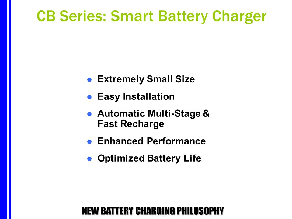 CB Series: Smart Battery Charger