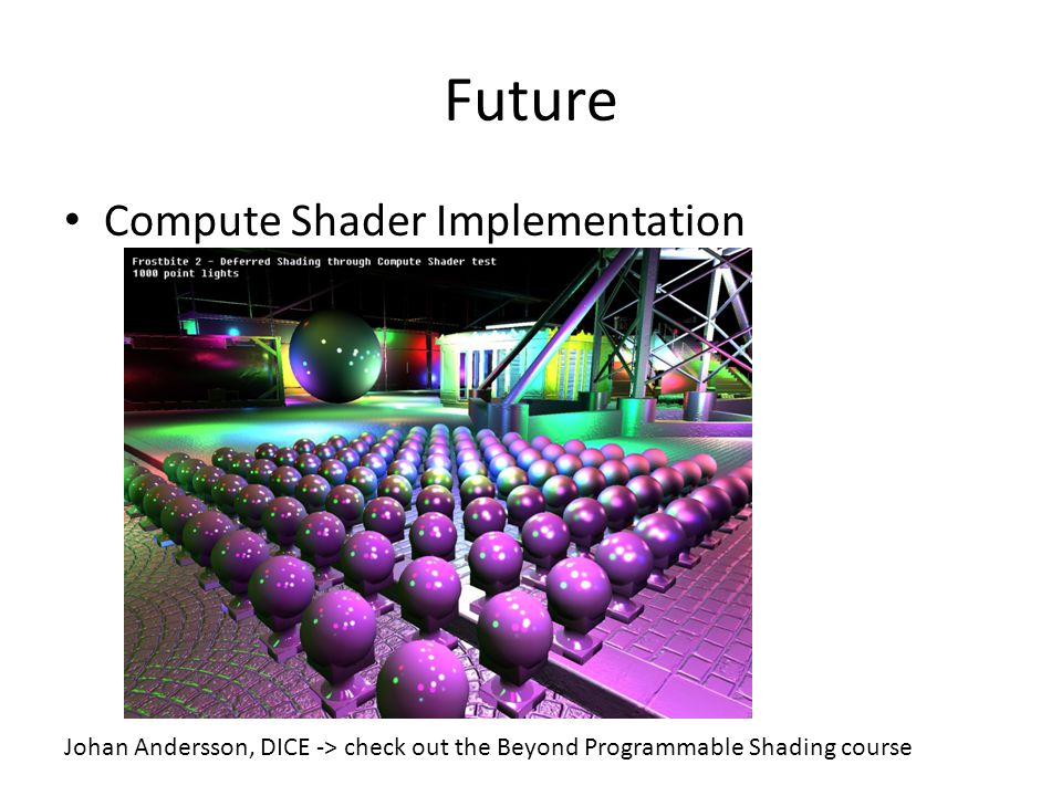 Future Compute Shader Implementation