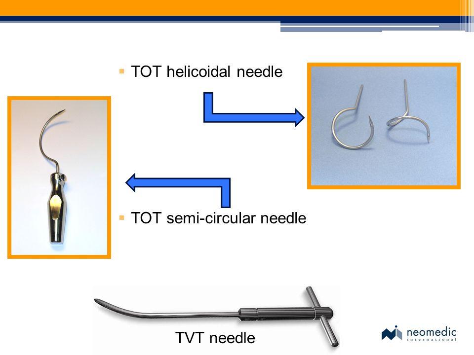TOT helicoidal needle TOT semi-circular needle TVT needle