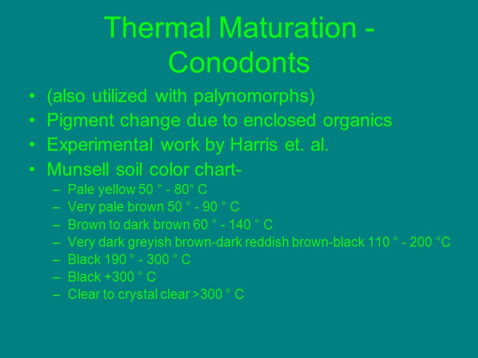 Thermal Maturation - Conodonts