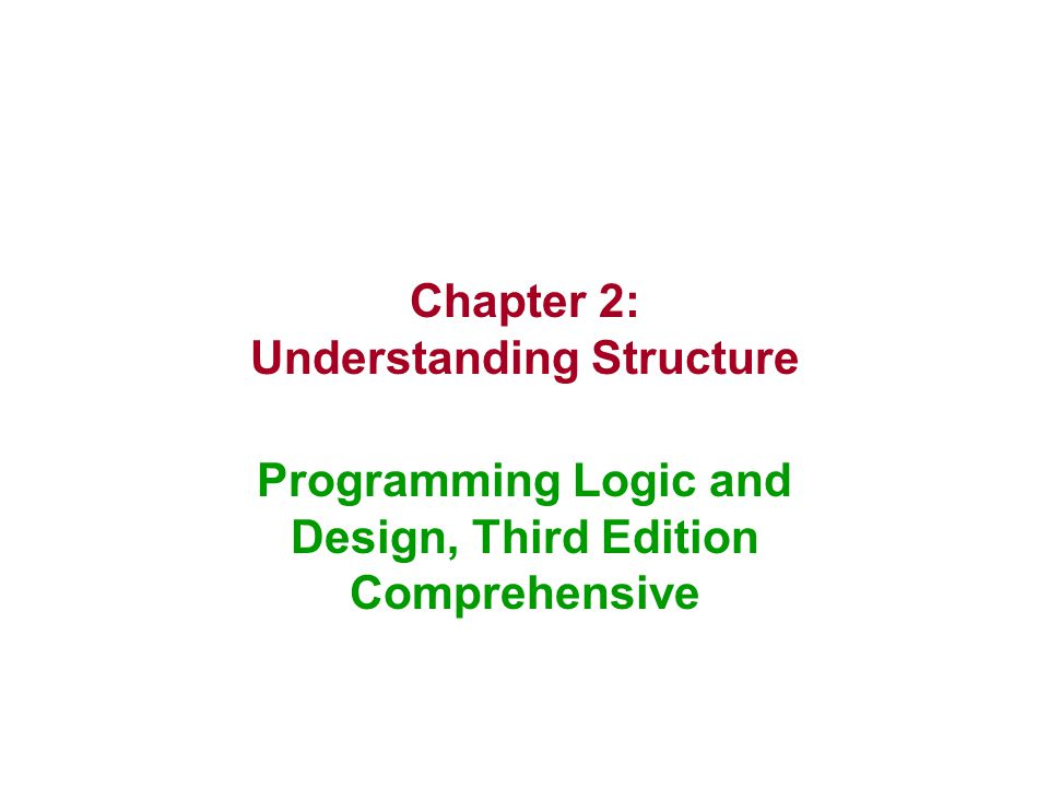 Chapter 2: Understanding Structure