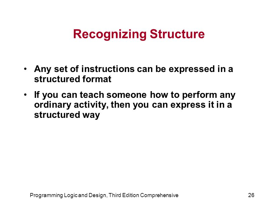 Recognizing Structure