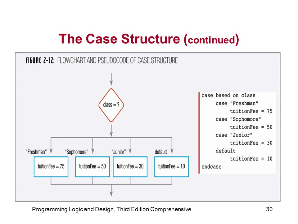 The Case Structure (continued)