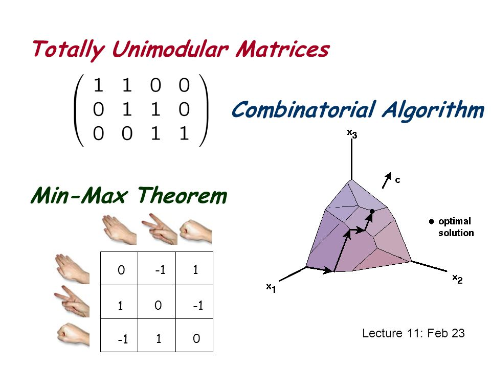 Totally Unimodular Matrices