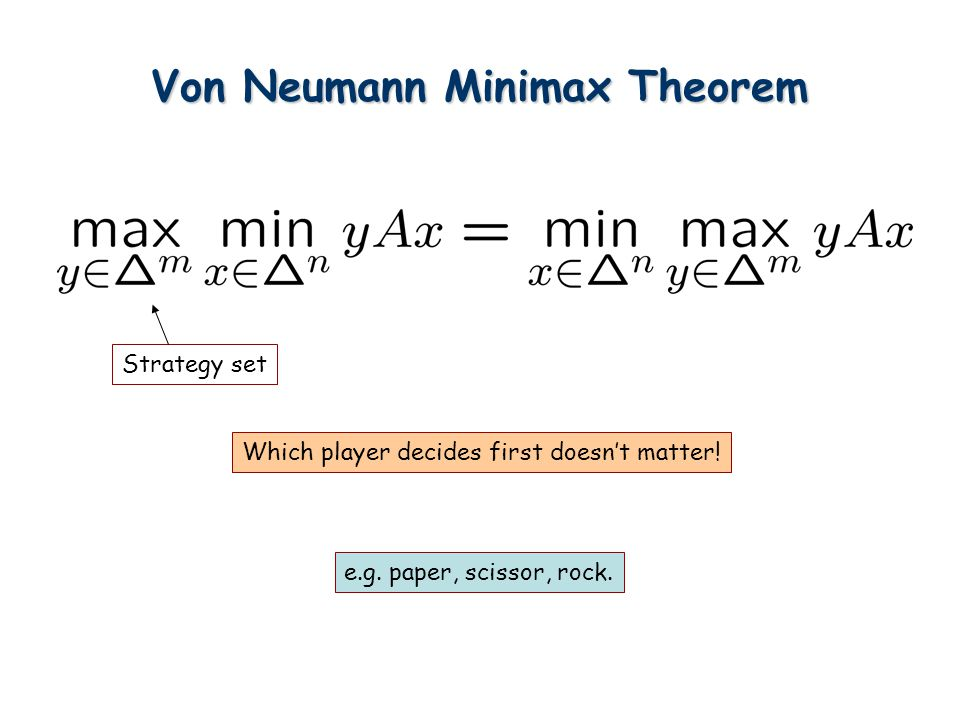 Von Neumann Minimax Theorem