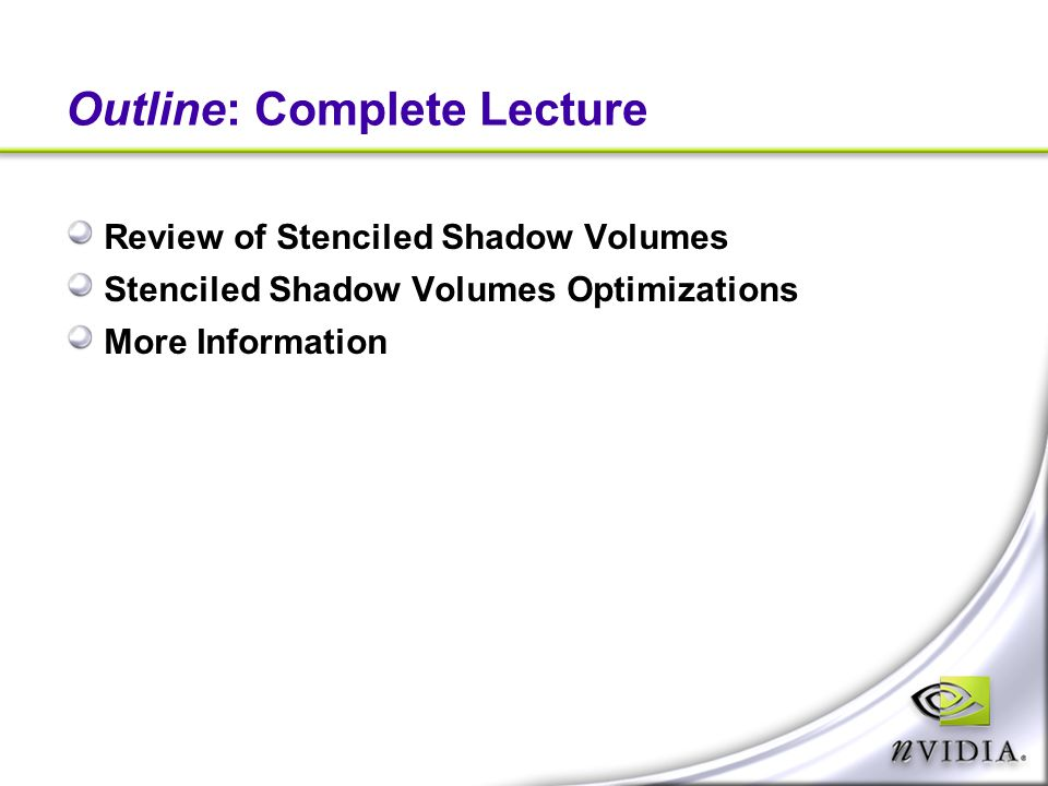 Outline: Complete Lecture