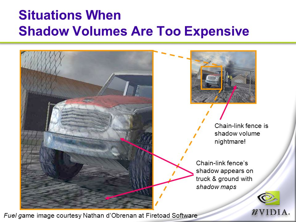 Situations When Shadow Volumes Are Too Expensive