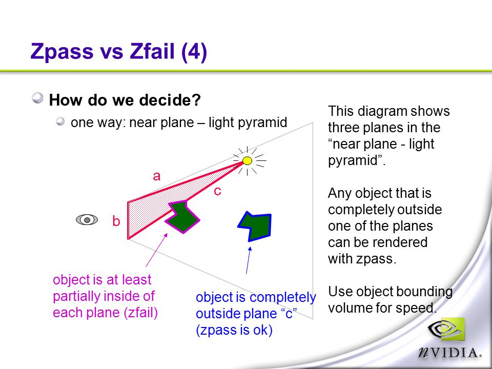 Zpass vs Zfail (4) How do we decide a c b