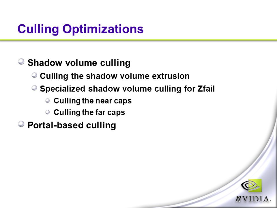 Culling Optimizations