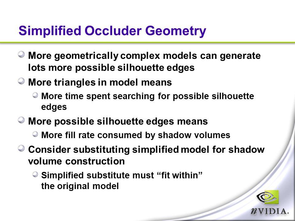 Simplified Occluder Geometry