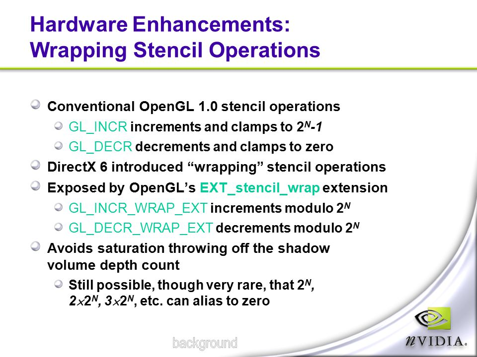 Hardware Enhancements: Wrapping Stencil Operations