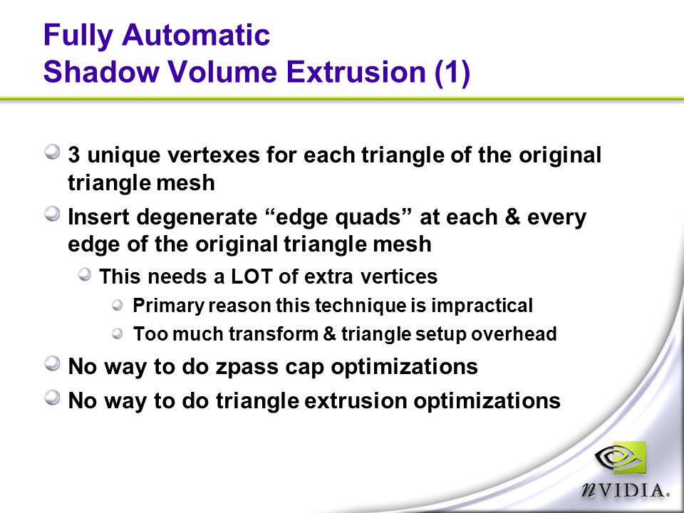 Fully Automatic Shadow Volume Extrusion (1)